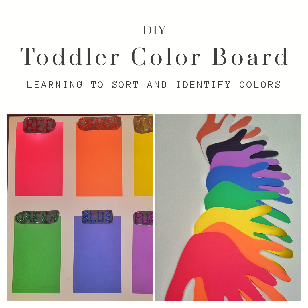 DIY Toddler Color Board | Califf Creations