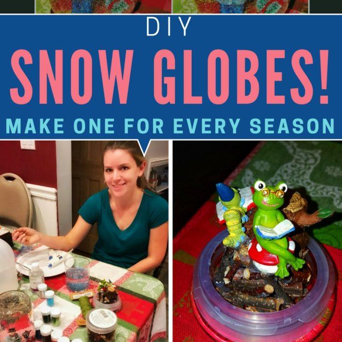 snow, globes, diy, blog